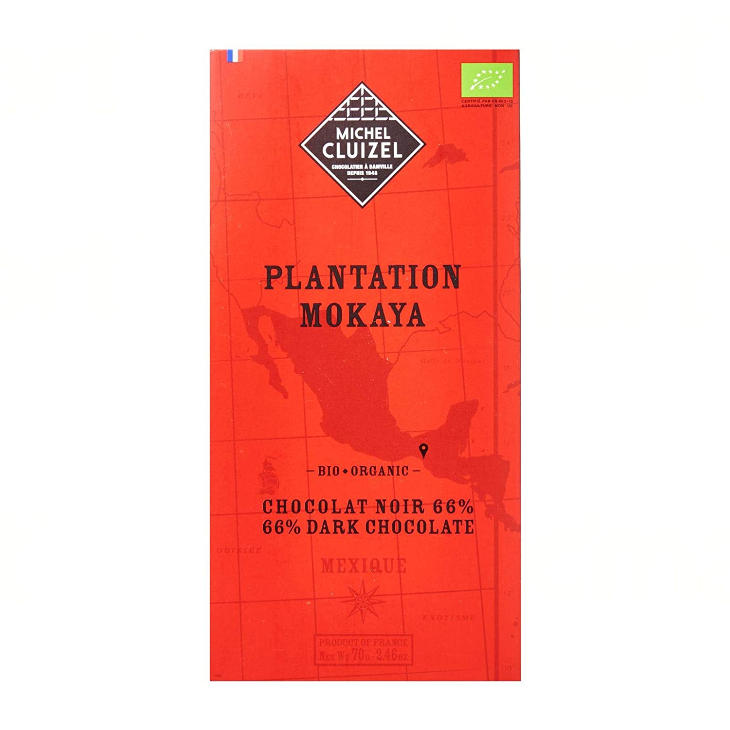 Michel Cluizel Chocolate Bar 70g - Plantation Mokaya 66% Dark Chocolate