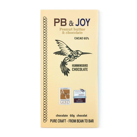 Hummingbird Chocolate Bar - PB & Joy 65% - 60g