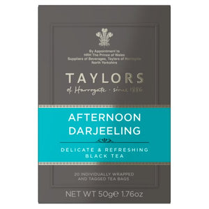 Taylors of Harrogate Tea - Afternoon Darjeeling 50g (20 Tea Bags)