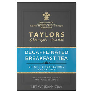 Taylors of Harrogate Tea - Decaffeinated English Breakfast 50g (20 Tea Bags)