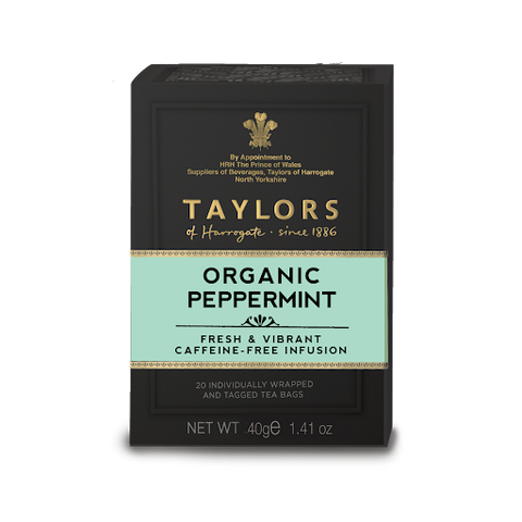 Taylors of Harrogate Tea - Organic Peppermint 40g (20 Tea Bags)