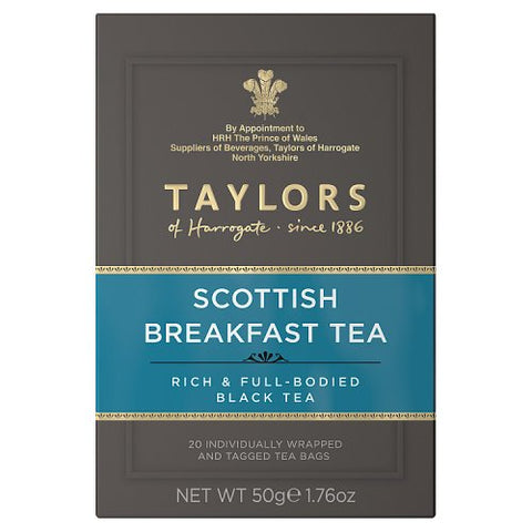 Taylors of Harrogate Tea - Scottish Breakfast Tea 50g (20 Tea Bags)