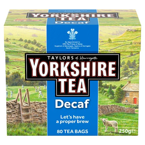 Taylors of Harrogate Tea - Yorkshire Decaffeinated 250g (80 Tea Bags)