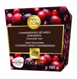Rochef Dark Chocolate Covered Cranberries 150g