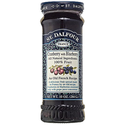 St Dalfour Cranberry & Blueberry Jam 225mL