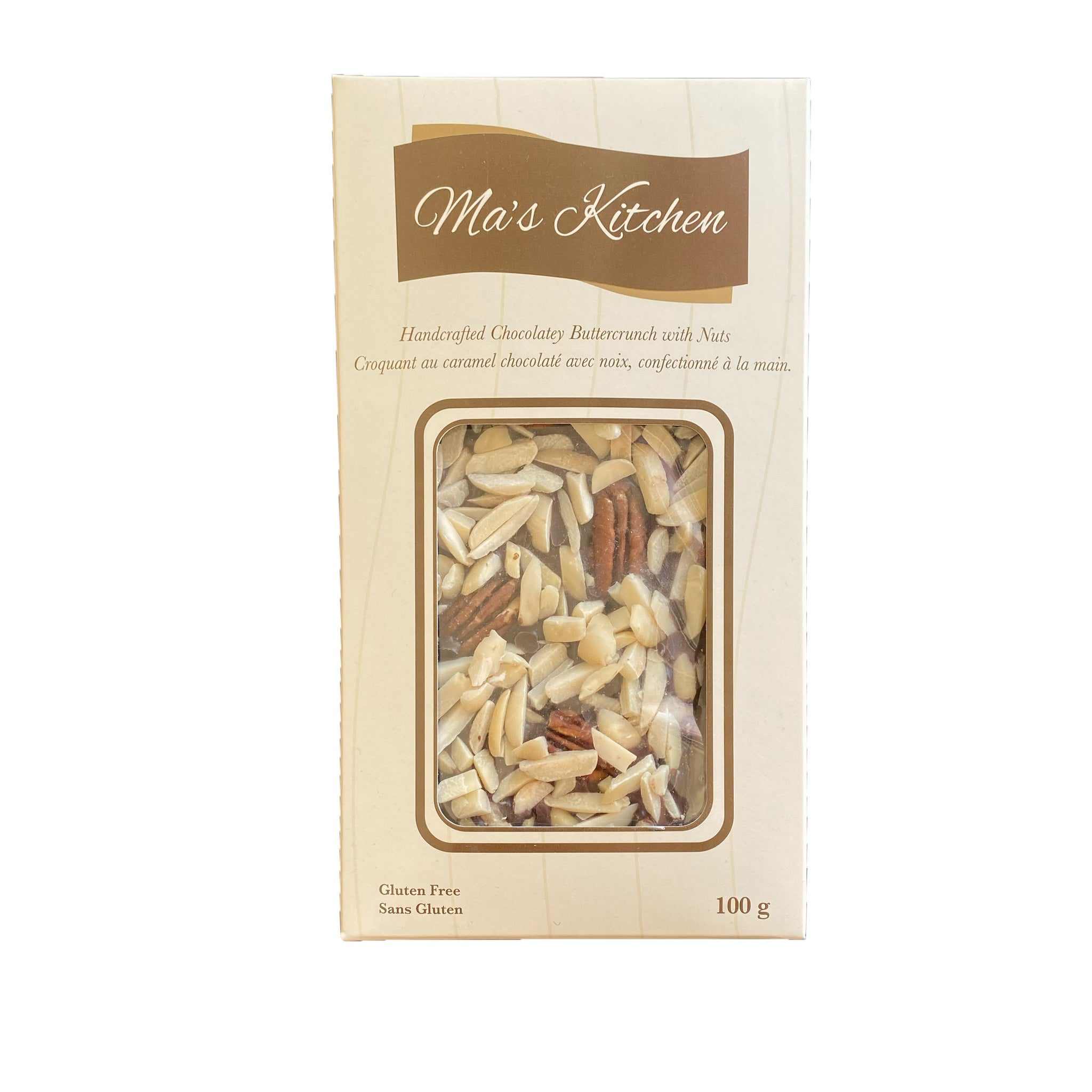 Ma's Kitchen Buttercrunch with Nuts - 100g