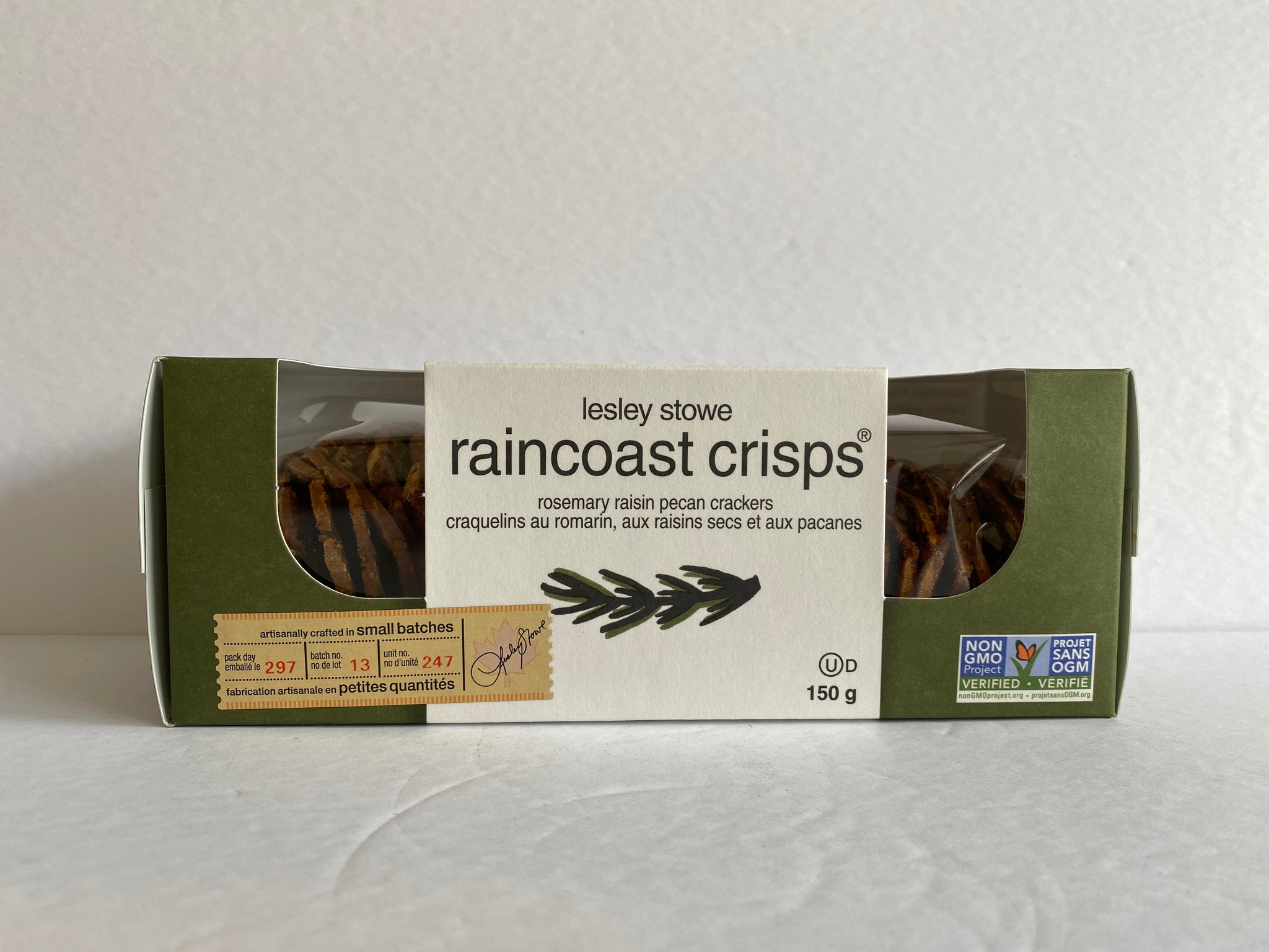 Raincoast Crisps Rosemary Raisin Pecan Crackers 150g
