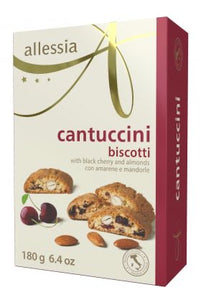 Allessia Cantuccini Biscotti with Black Cherry and Almonds - 180g