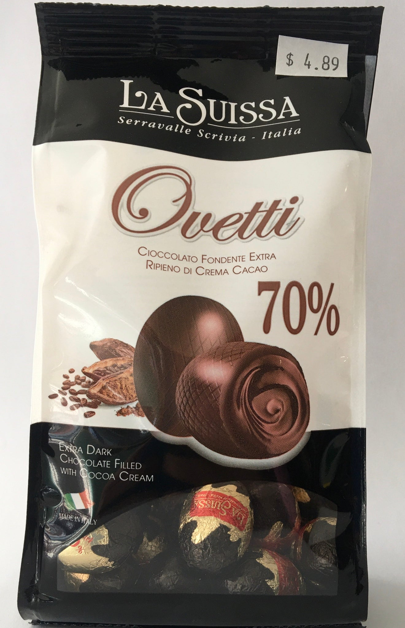 La Suissa Ovetti 70% Extra Dark Chocolate Easter Eggs 170g