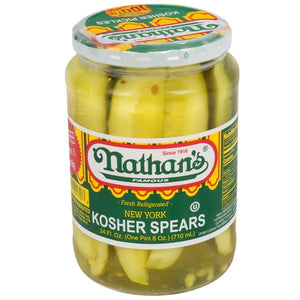 Nathan's - Kosher Dill Pickle Spears 750mL