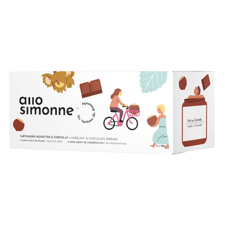 Allo Simonne - Hazelnut & Chocolate Spread 3x 100g