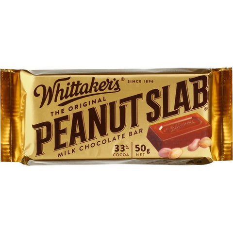 Whittaker's Original Peanut Slab Milk Chocolate Bar - 50g