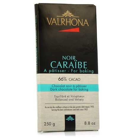 Valrhona 66% Dark Chocolate for Baking 250g