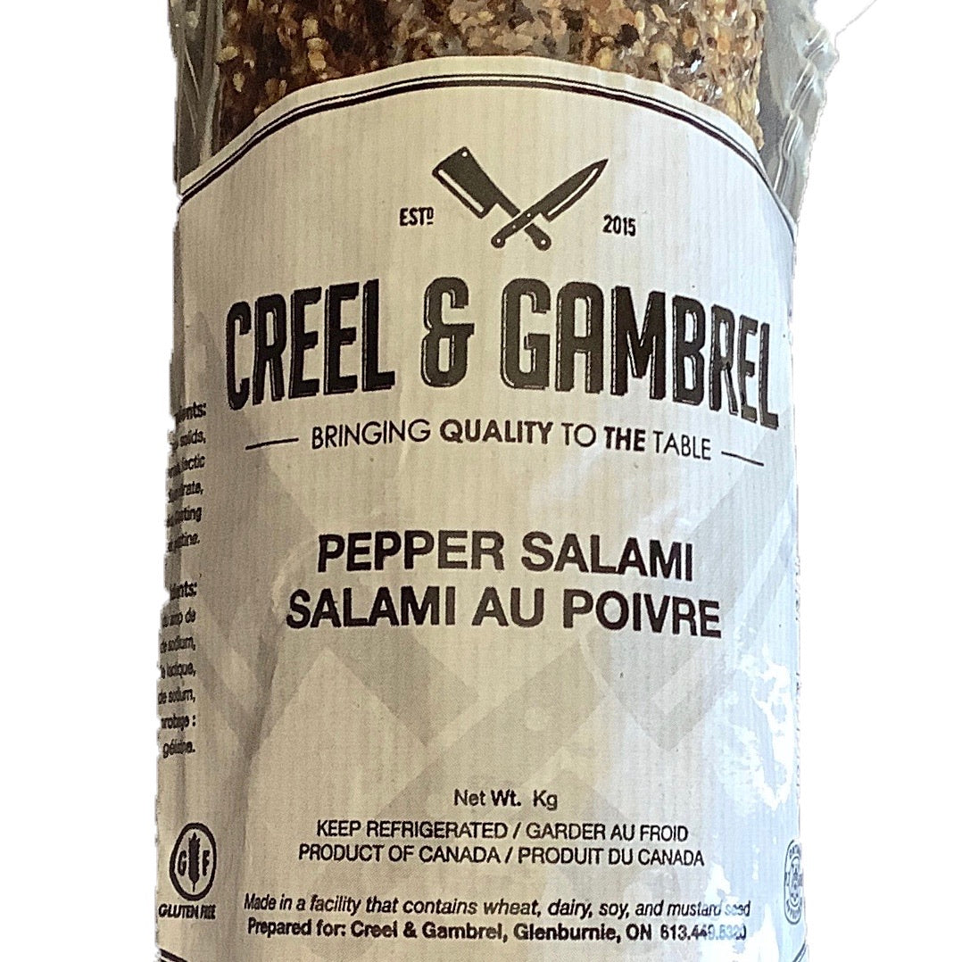Creel and Gambrel Pepper Salami 200g