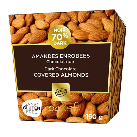Rochef Dark Chocolate Covered Almonds 150g