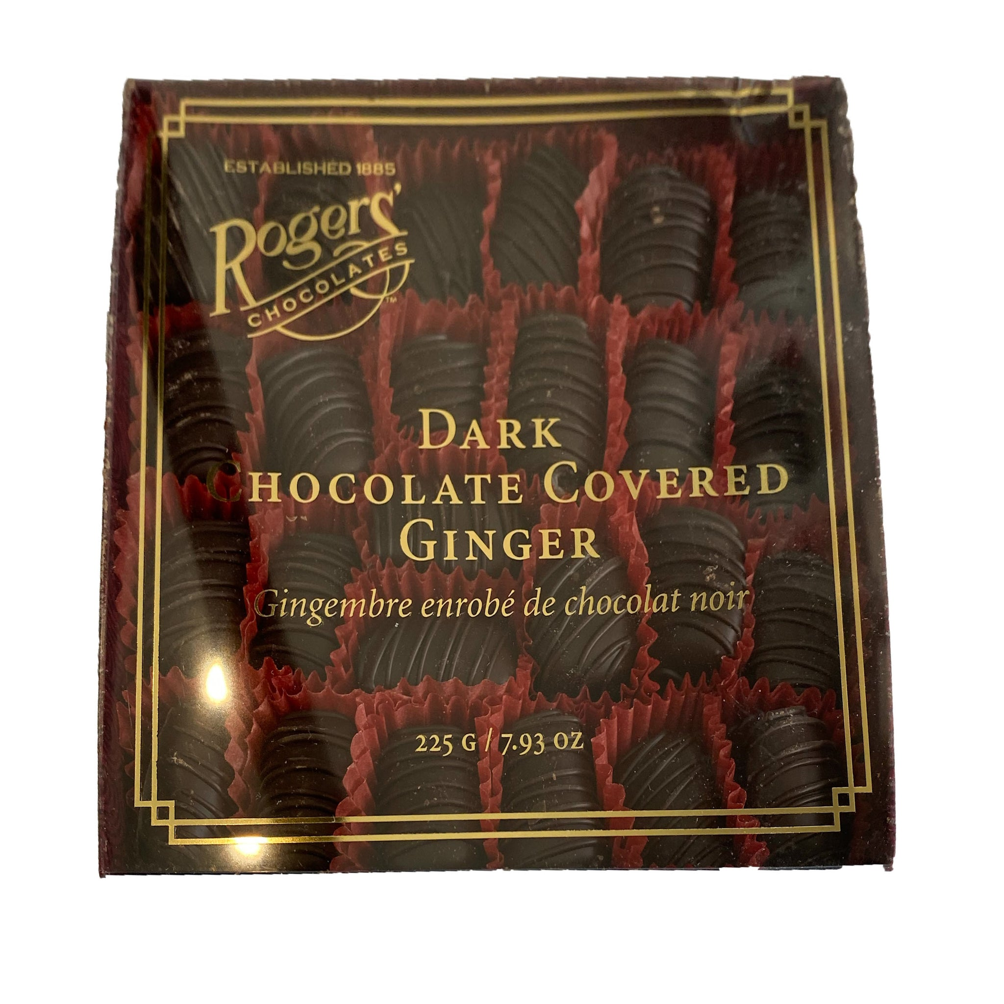 Rogers Dark Chocolate Covered Ginger 225g