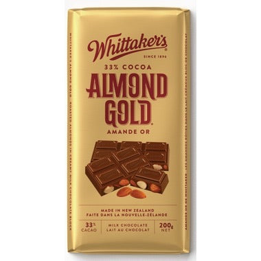 Whittaker's Almond Gold Milk Chocolate Bar 220g