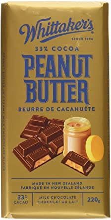 Whittaker's Peanut Butter Milk Chocolate Bar 220g