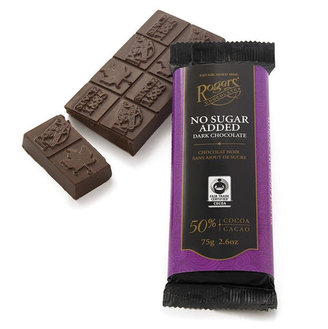 Roger's No Sugar Added Dark Chocolate Bar 75g