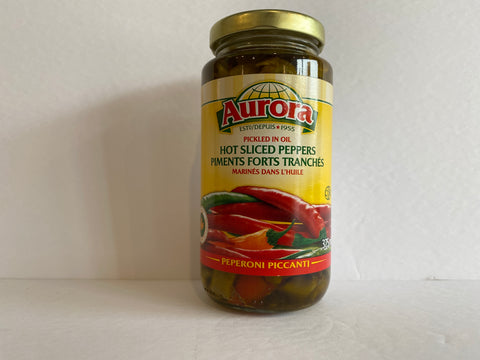 Aurora Hot Sliced Peppers 375ml