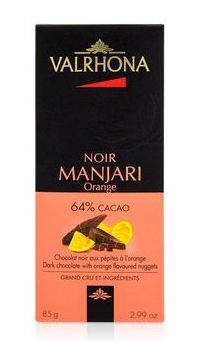 Valrhona Dark Chocolate - Manjari Orange 64% Cacao 85g
