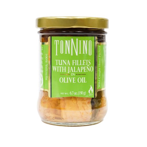 Tonnino - Light Tuna Fillets w Jalapeno in Olive Oil 190g