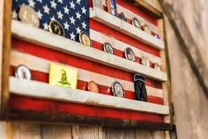 Coin Holder Flag Small