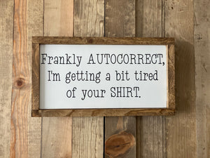 Frankly autocorrect