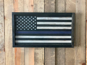 Thin Blue Line Extra Small Flag
