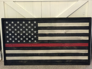 Thin Red Line Small Flag