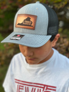 J Tred Heathered Gray & Black Snapback
