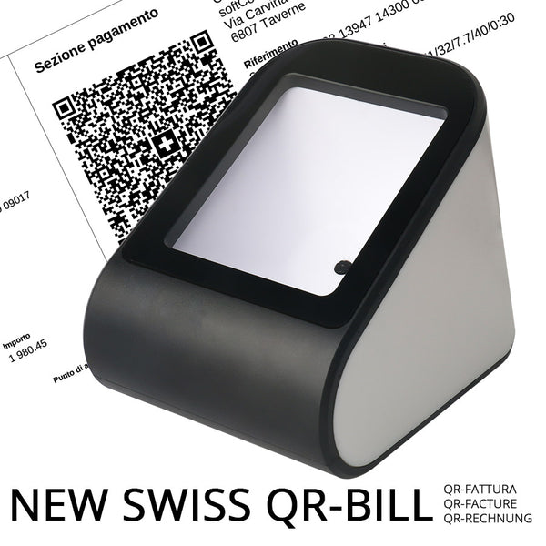 2D Omni Barcode Scanner, handsfree, Swiss QR-Bill