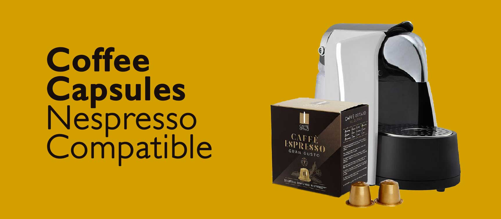 Coffee Capsules. Nespresso compatible coffee pods or capsules.
