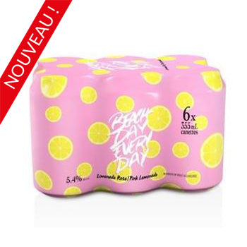BEACH DAY EVERY DAY LIMONADE ROSE 6 CAN.   **18 ans et +