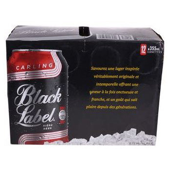 Caisse Black Label 12 can 355 ML