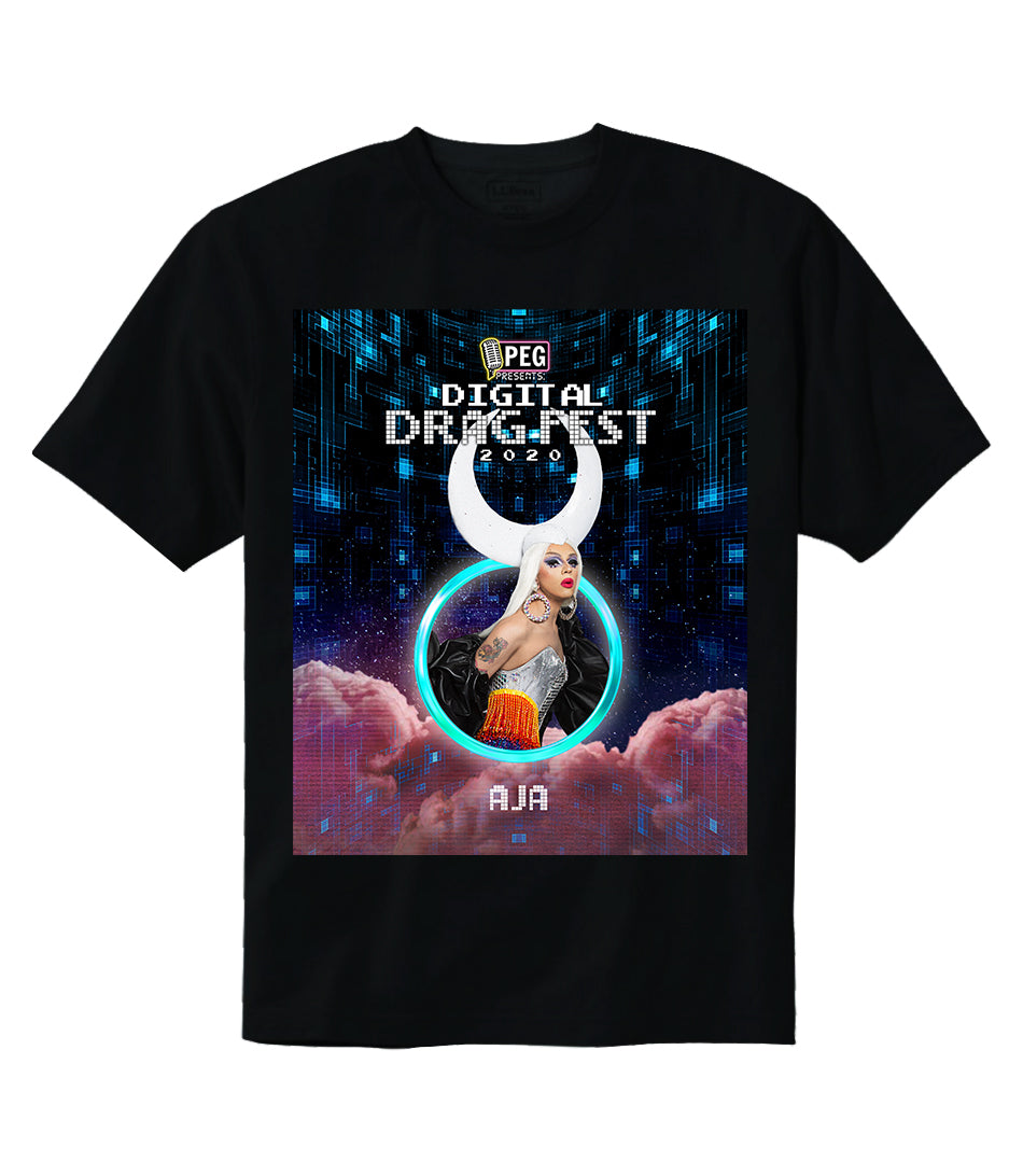 Aja- Digital Drag Fest 2020 T-shirt