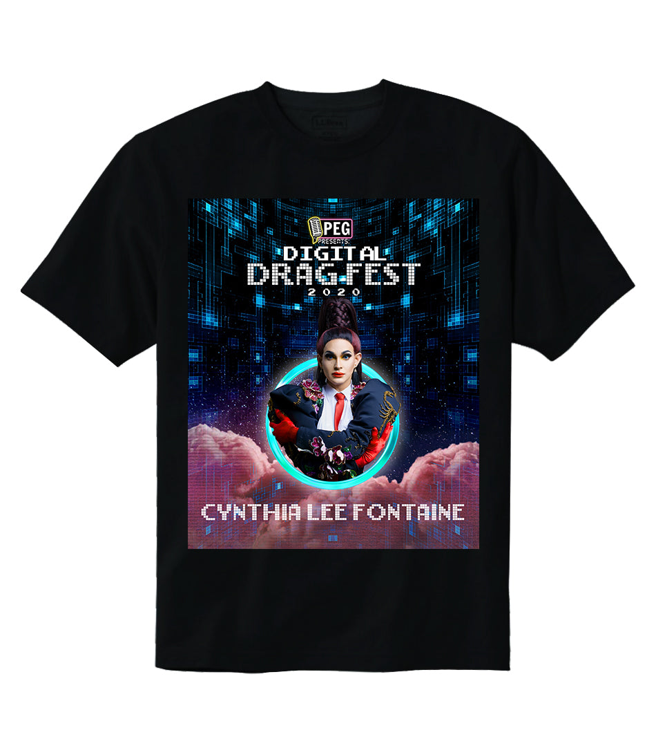 Cynthia Lee Fontaine- Digital Drag Fest 2020 T-shirt