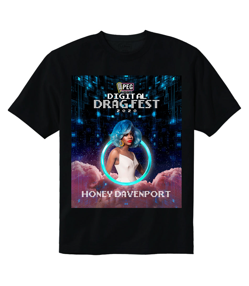 Honey Davenport- Digital Drag Fest 2020 T-shirt