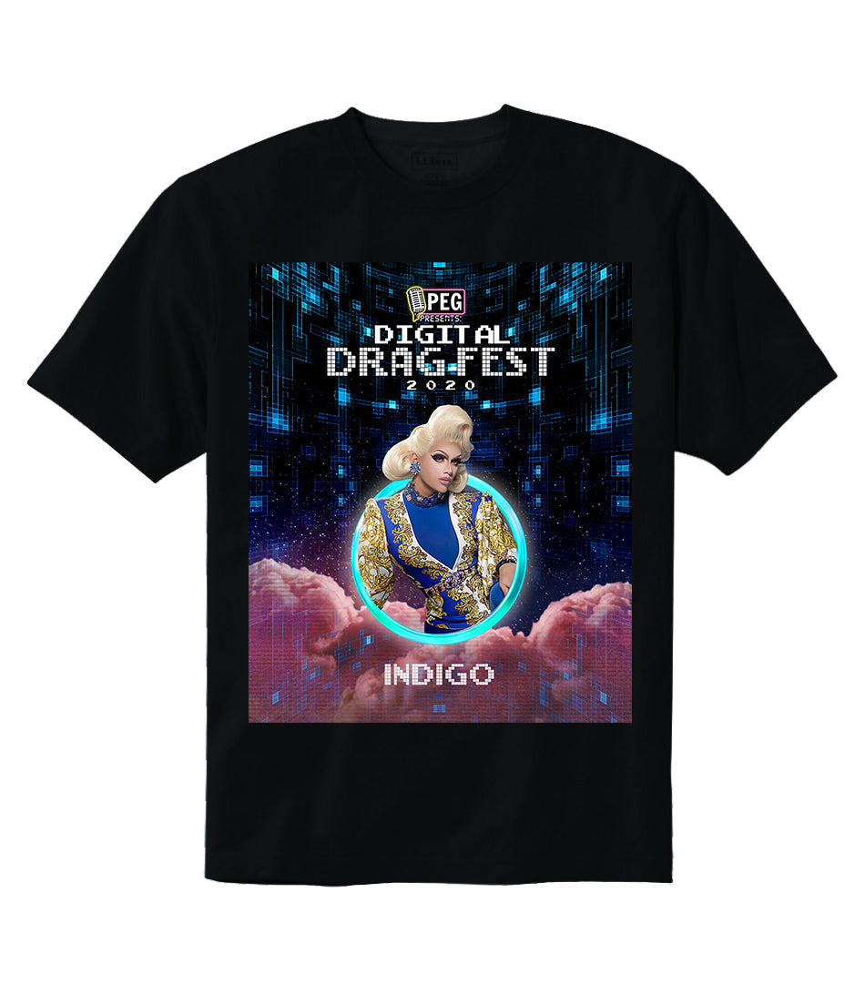 Indigo- Digital Drag Fest 2020 T-shirt