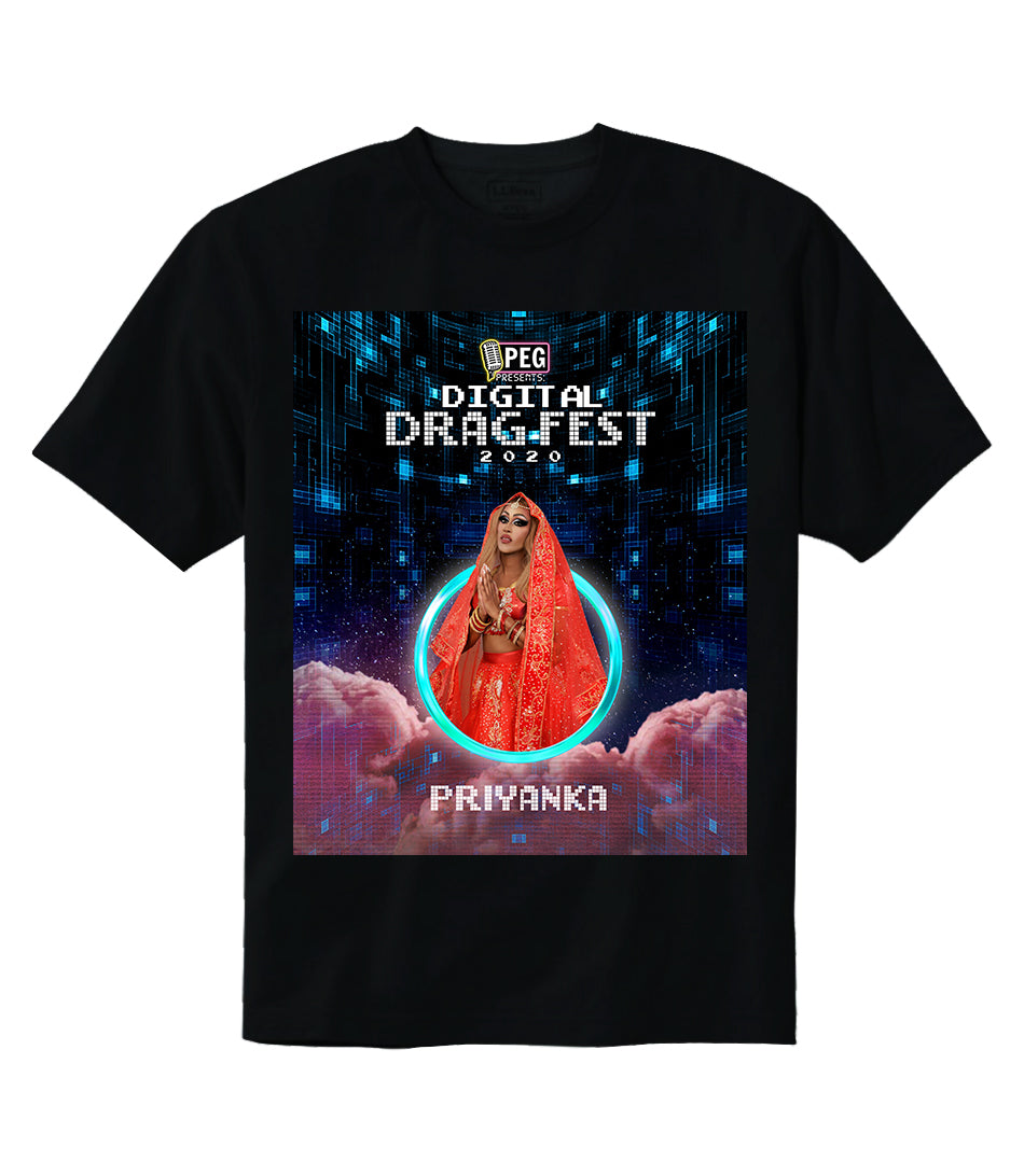 Priyanka- Digital Drag Fest 2020 T-shirt