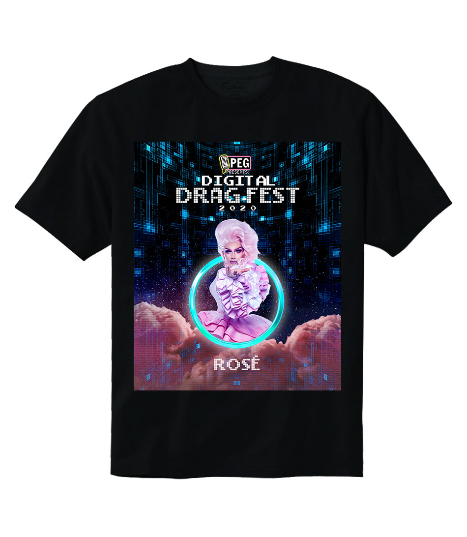 Rosé- Digital Drag Fest 2020 T-shirt
