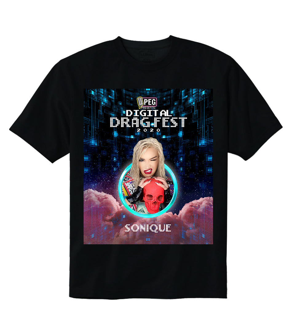 Sonique- Digital Drag Fest 2020 T-shirt