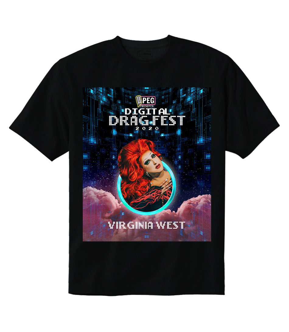 Virginia West- Digital Drag Fest 2020 T-shirt