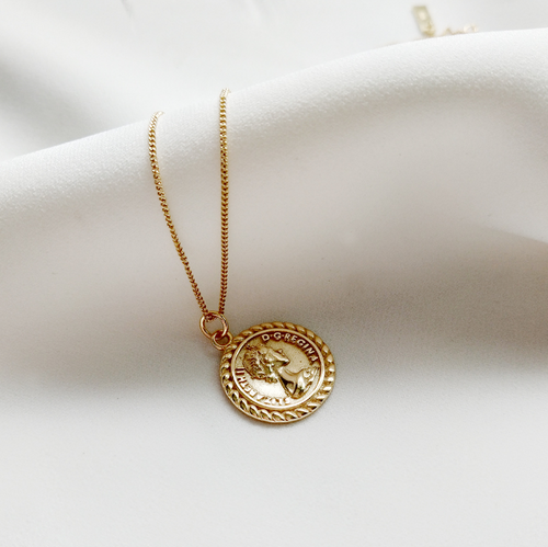 Elizabeth Coin Necklace - Pine Jewellery