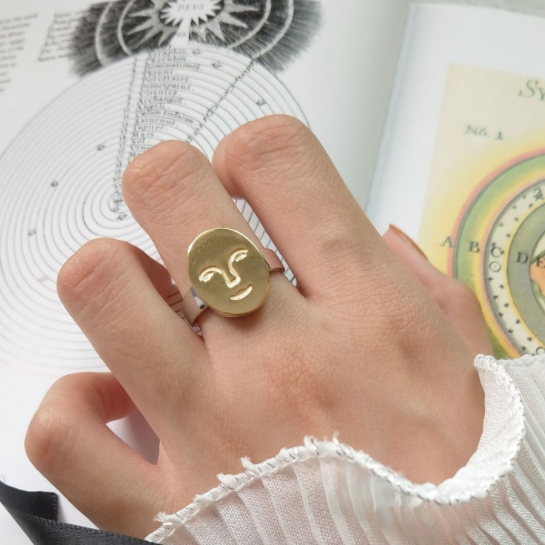 Artsy Face Ring - Pine Jewellery