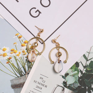 Geometric Shell Earrings - Pine Jewellery
