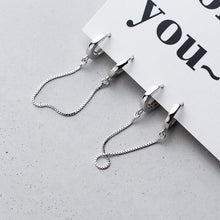 Load image into Gallery viewer, Handcuff Silver Earrings - Pine Jewellery