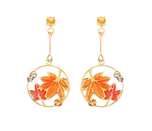 Load image into Gallery viewer, Autumn Leaves Earrings - Pine Jewellery