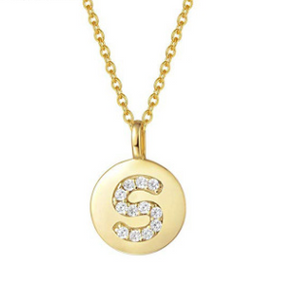 Gold Vermeil Initial Necklace - Pine Jewellery