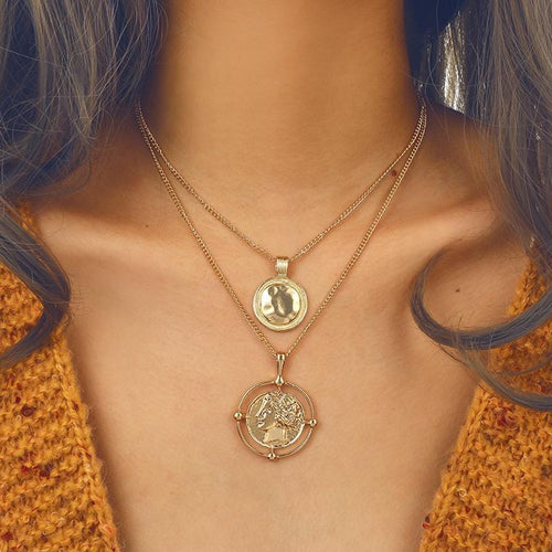 Greek Coin Necklace - Pine Jewellery